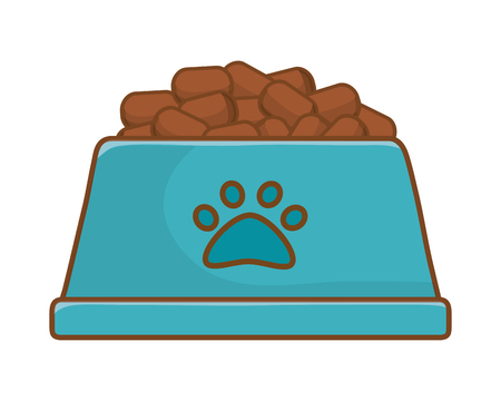cute pet funny element food bowl cartoon vector illustration graphic design