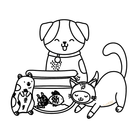 cute funny pets cartoon