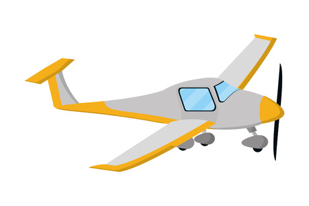 transportation concept small plane cartoon vector illustration graphic design Illustration