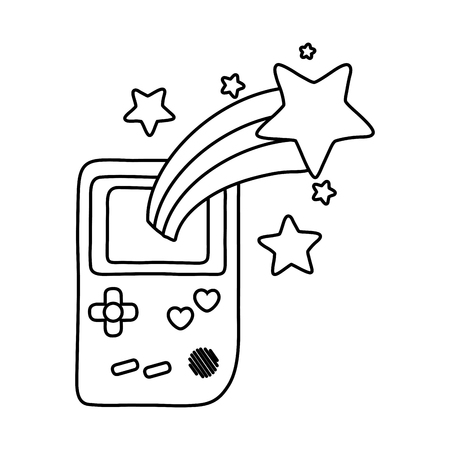 game console and shooting star black and white