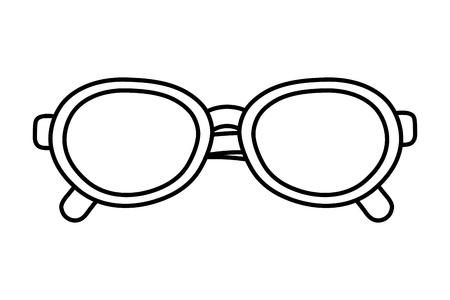 glasses icon cartoon black and white Иллюстрация