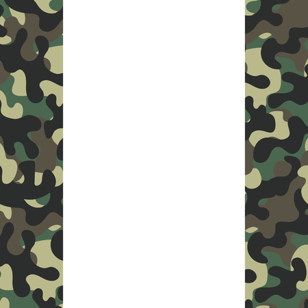 camouflage frame icon cartoon vector illustration graphic design