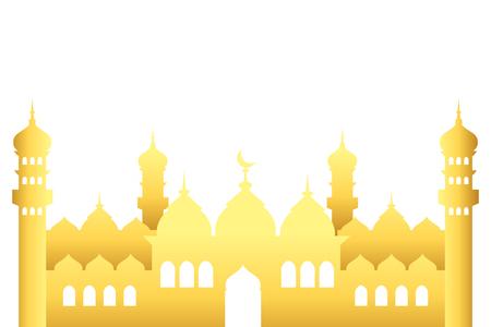 Symbol des islamischen Gebäudes Vektorgrafik