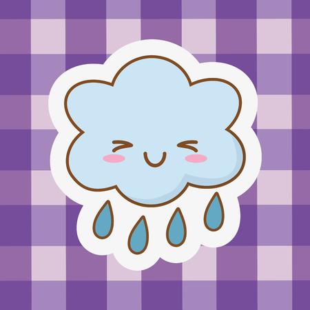 cute happy funny kawaii cloud cartoon vector illustration graphic design
