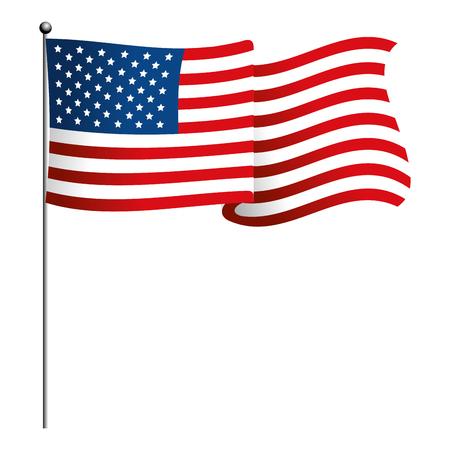 united state flag icon cartoon isolated vector illustration graphic design Illustration