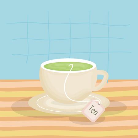 delicious tea cup drink vector illustration design