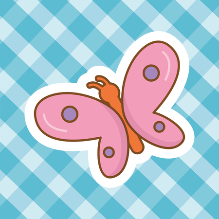 cute happy funny butterfly cartoon vector illustration graphic design