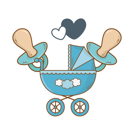 cute baby shower elements cartoon vector illustration graphic design 일러스트
