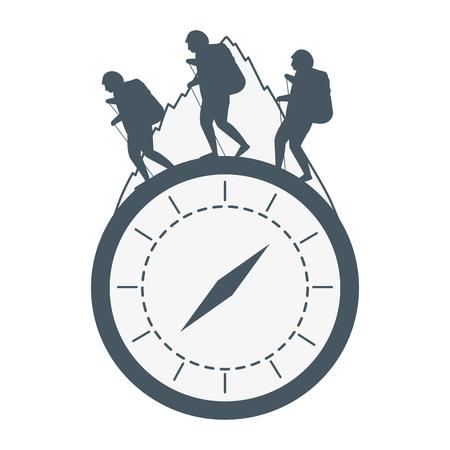 Outdoor Camping Chronometer Konzept Cartoon Vektor Illustration Grafikdesign Vektorgrafik