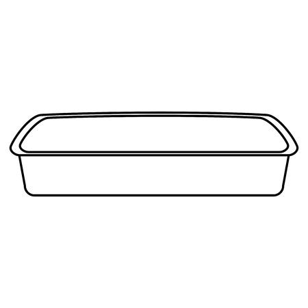 sand box cat bath empty vector illustration design