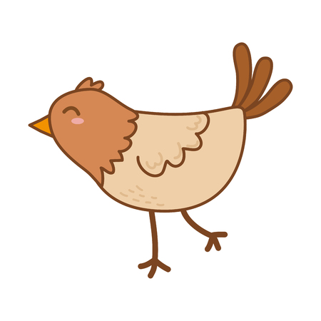 cute bird woodland character vector illustration design Foto de archivo - 123383802