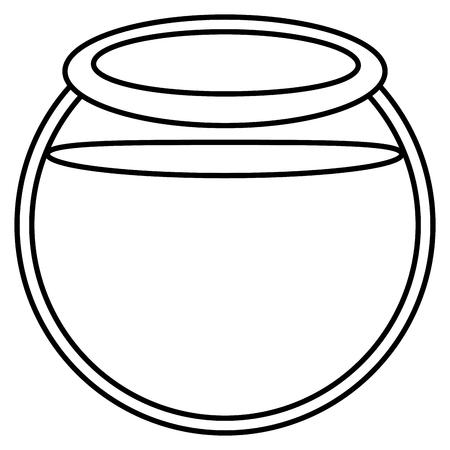 aquarium bowl glass icon vector illustration design