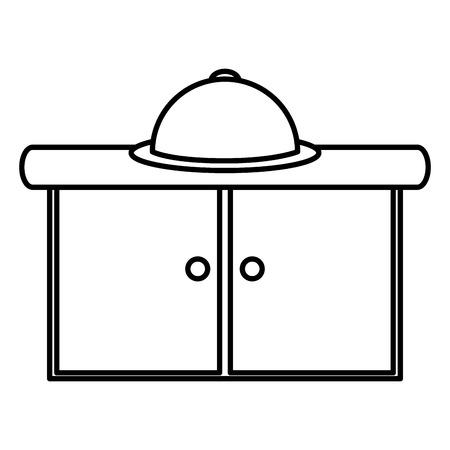 kitchen drawer with tray server vector illustration design Ilustração
