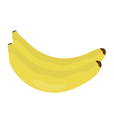 bananas fresh fruit icon vector illustration design