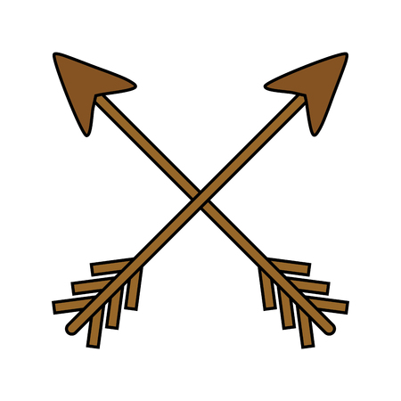 wooden arrow guide label vector illustration design
