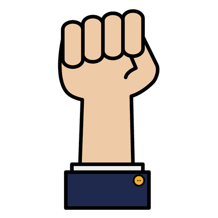 hand fist force icon vector illustration design