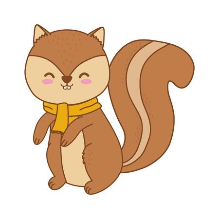 cute chipmunk woodland character vector illustration design Foto de archivo - 123345041