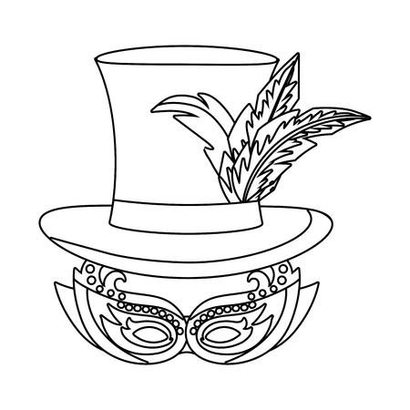 carnival mask cartoon vector illustration graphic design