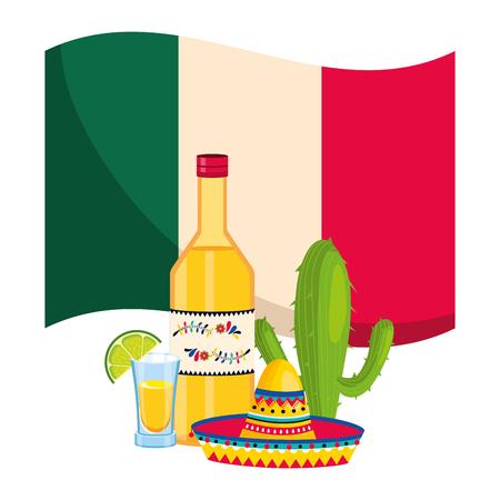 mexican culture festival mexico mariachi elements cartoon vector illustration graphic design