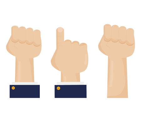 hands fist force icon vector illustration design