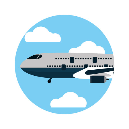 transportation concept airplane cartoon vector illustration graphic design