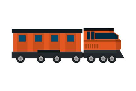 transportation concept train cartoon vector illustration graphic design Иллюстрация