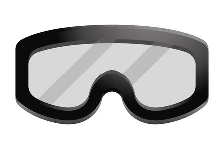 military goggles icon cartoon vector illustration graphic design