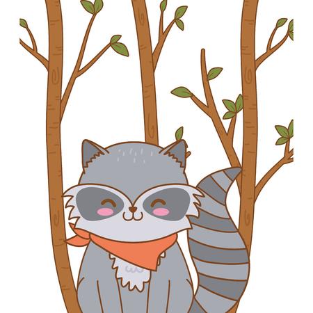 cute raccoon woodland character Foto de archivo - 121268175