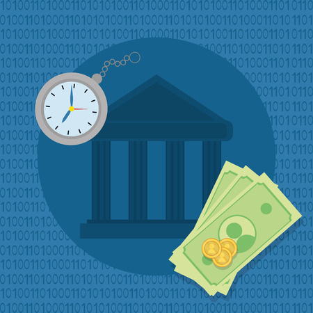 saving money finance elements cartoon vector illustration graphic design Иллюстрация