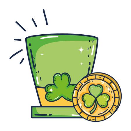 cute leprechaun hat icon vector illustration design