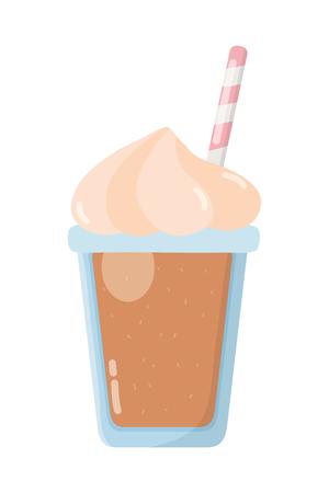 delicious tasty drink milkshake cartoon vector illustration graphic design Ilustração