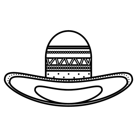 mexican hat traditional icon vector illustration design
