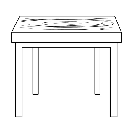 furniture table cartoon vector illustration graphic design Stok Fotoğraf - 123086905