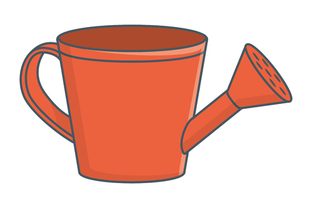arrosoir cartoon vector illustration graphic design Vecteurs