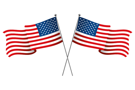 bandiera dello stato unito icona fumetto isolato illustrazione vettoriale graphic design Vettoriali