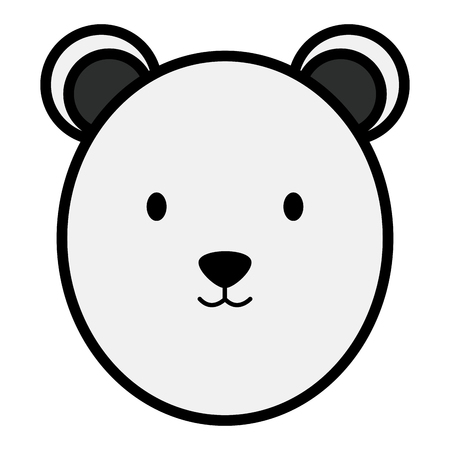 cute polar bear head childish character vector illustration design