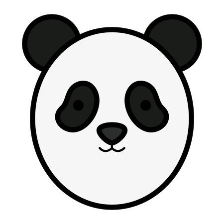 cute panda head childish character vector illustration design Standard-Bild - 121379049