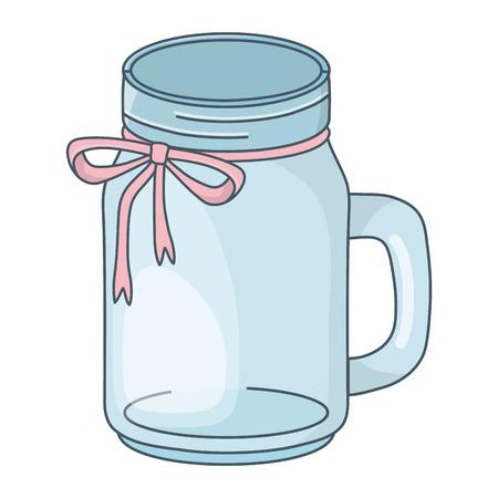 mason jar bottle cartoon vector illustration graphic design