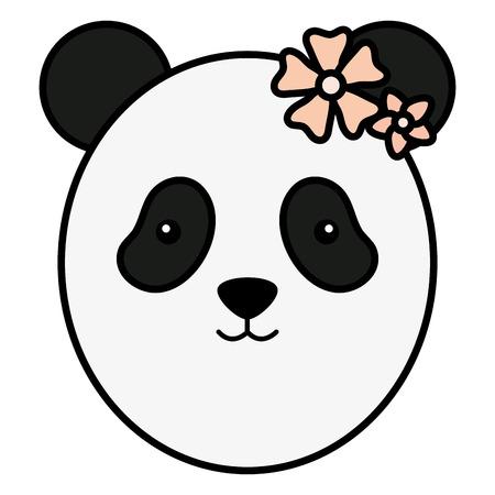 cute female panda childish character vector illustration design Standard-Bild - 121379717