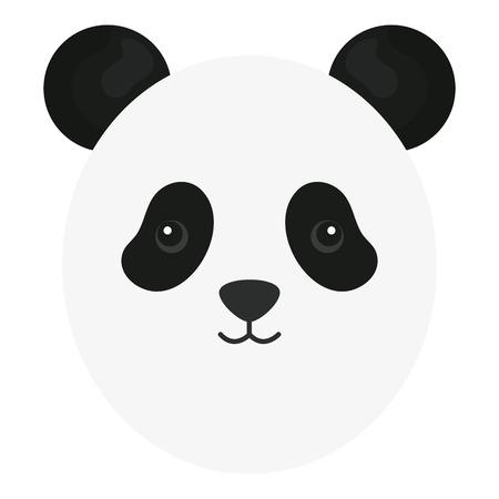 cute panda head childish character Standard-Bild - 121440000