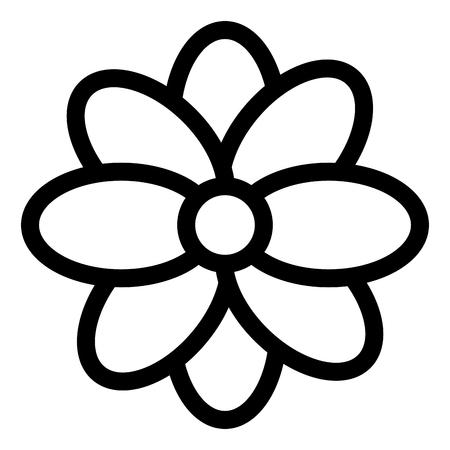 Diseño de ilustración de vector de icono de flor decorativa mexicana