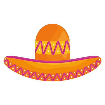 mexican hat traditional icon Ilustración de vector