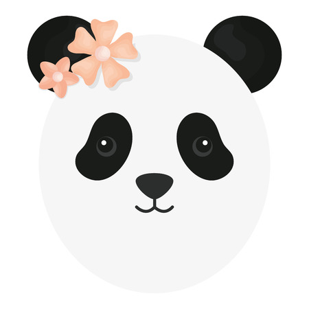 cute female panda childish character vector illustration design Standard-Bild - 121379162