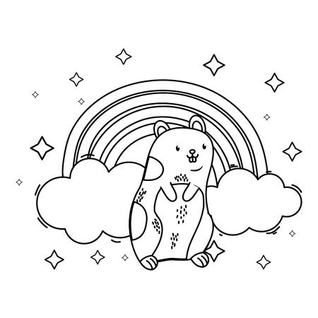 cute pet animal cartoon Ilustracja