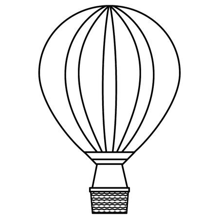 balloon air hot flying vector illustration design Banque d'images - 123045459