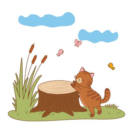 cute pet animal cartoon Ilustração