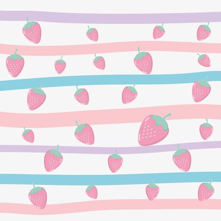 delicious tasty food fruits pattern background cartoon vector illustration graphic design Ilustrace