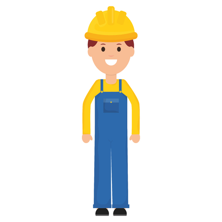 builder worker with helmet vector illustration design Vectores
