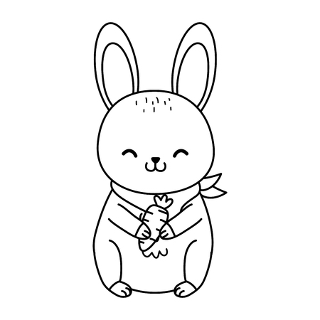 cute rabbit woodland character vector illustration design Foto de archivo - 122983968