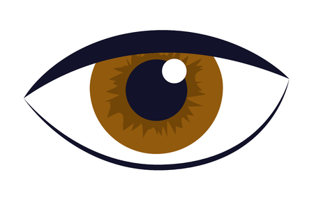 human eye cartoon vector illustration graphic design